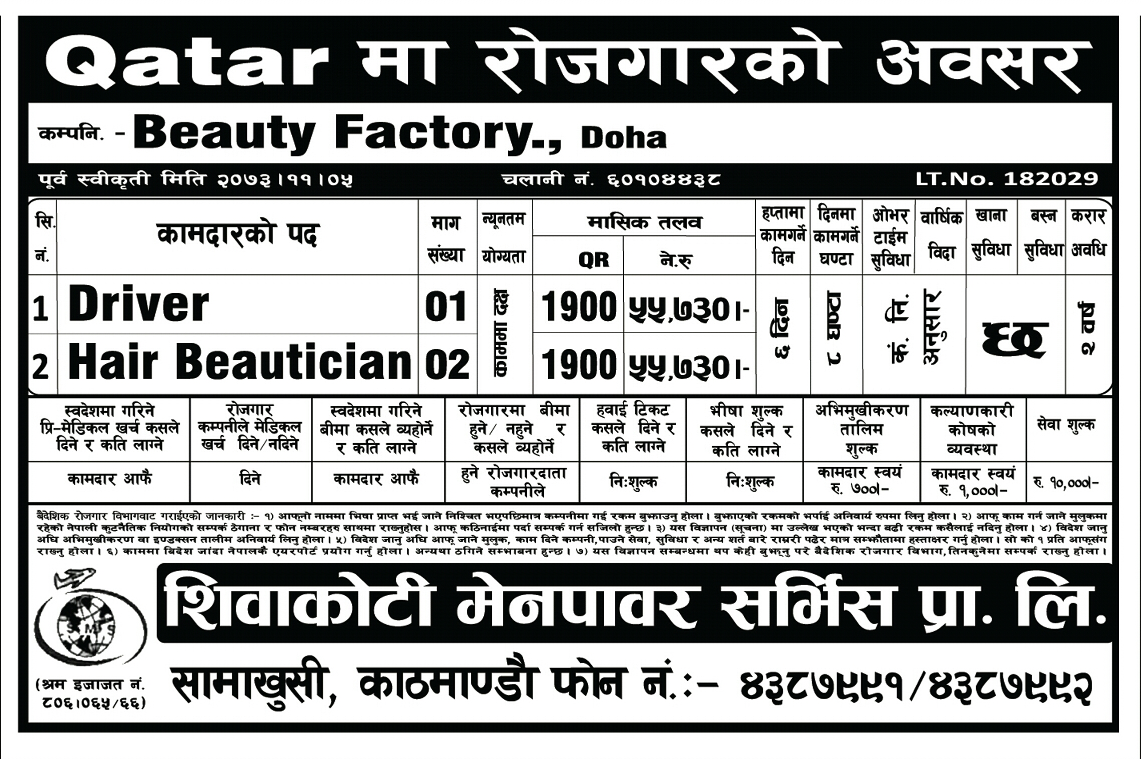 all information are given below - Beautician Cover Letter