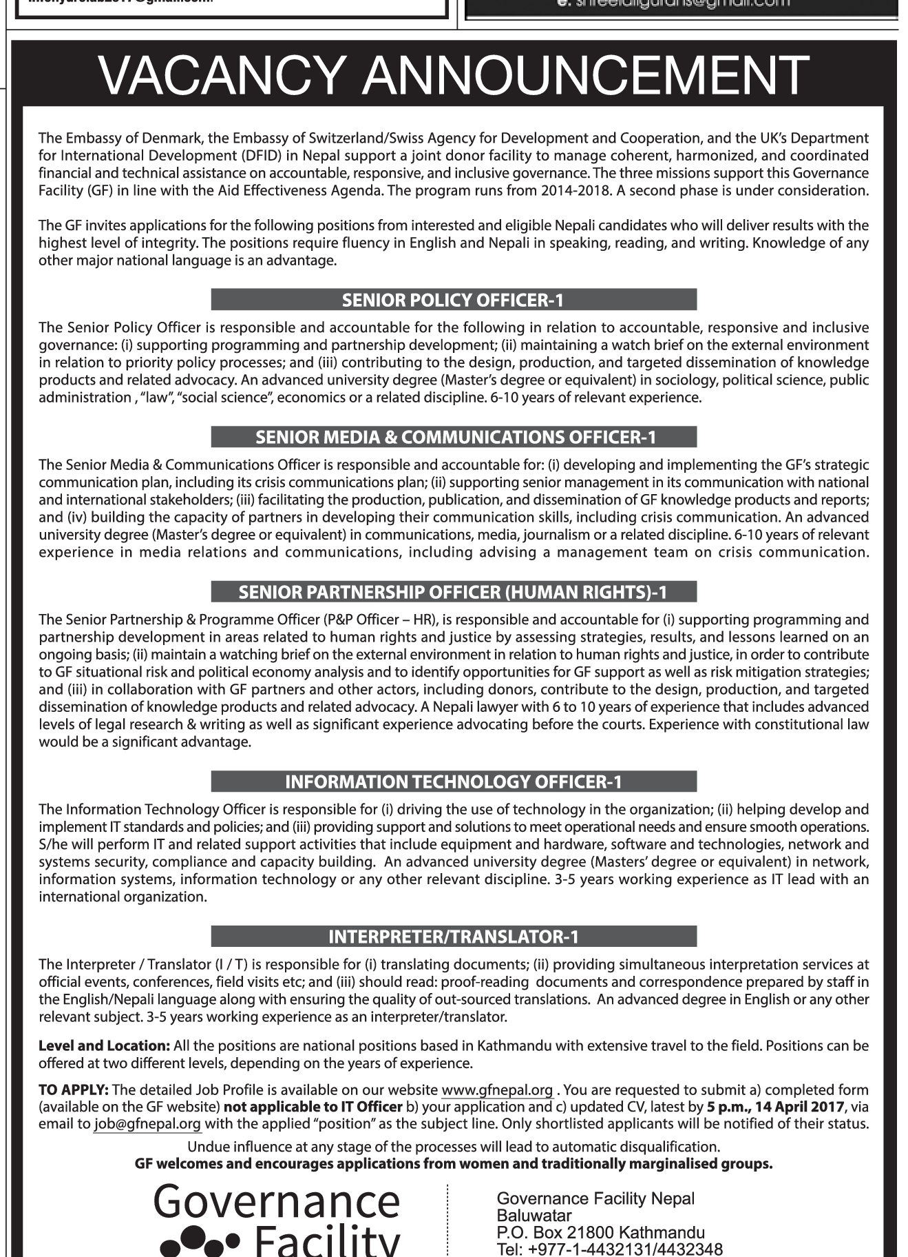 Job Vacancies In Denmark Embassy