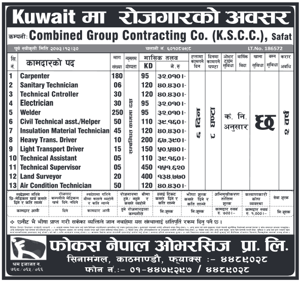 KUWAIT !! KUWAIT !! KUWAIT !! JOB DEMANDS FROM KUWAIT!!